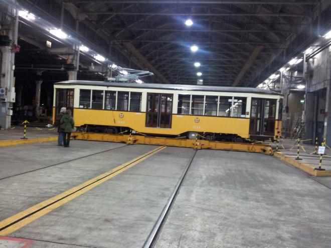 L'Officina generale dei tram Atm a Milano