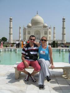 Andrea ed io al Taj Mahal