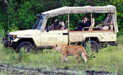Enjoying Wildlife safari: Some of the tourists enjoy a game drive, Kenya has been named top 10 destinations to visit